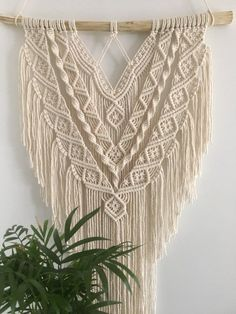 Hand Made , Macrame wall hanging Macrame tapestry Macrame wall hanger wall pendant woven wal. Makramee Wandbehang Makramee Tapisserie Makramee Wandbehang Wand A. Macrame Wall Hanging Patterns, Large Macrame Wall Hanging, Macrame Patterns, Tapestry Wall Hanging, Macrame Design, Macrame Art, Macrame Projects, Modern Macrame, Support Mural