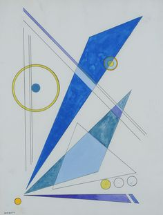 Available for sale from Weinstein Gallery, Rolph Scarlett, Untitled (ca. Watercolor on paper, 11 × 8 in Sacred Geometry, Artsy, Symbols, Letters, Watercolor, Abstract, Artwork, Design, Pen And Wash