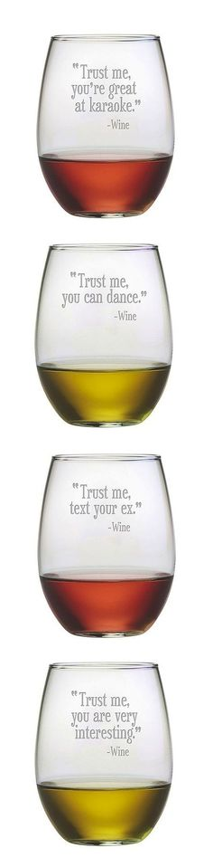 Trust Me Stemless Wine Glasses