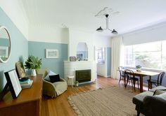 """Name: Joanne O'Callaghan Location: Melbourne, Australia Size: 510 square feet Years owned: 16 years Joanne recently renovated this late-1940s Art Deco apartment in East Melbourne, Australia. The entire place is full of light and charm, but the apartment's living and dining space, called the """"blue room,"""" is a particular jewel: It features Art Deco cornices, a tiered mirror above the original fireplace and a large framed window. Joanne writes: """"Our focus was to breathe life and creativity into…"""