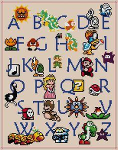 mario alphabet