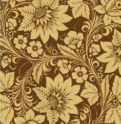 Elegant floral ornamental pattern on brown background - Freepik.com
