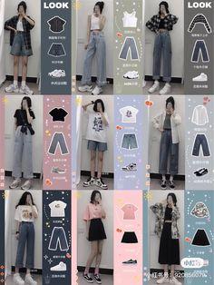 Korean Girl Fashion, Korean Fashion Trends, Korean Street Fashion, Ulzzang Fashion, Hipster Fashion, Cute Fashion, Asian Fashion, Look Fashion, Fashion Design