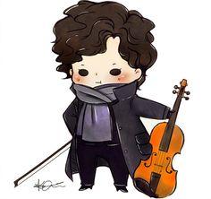 Tiny Violinlock!!!! Sherlock by ~laalaachii