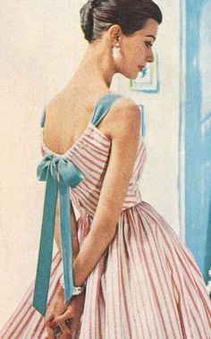 Mid mod summer stripes the awesome vintage outfits, vin Fashion 60s, Fashion History, Look Fashion, Trendy Fashion, Fashion Vintage, 1950s Summer Fashion, Fashion Dresses, Fashion Sewing, Fashion Quiz