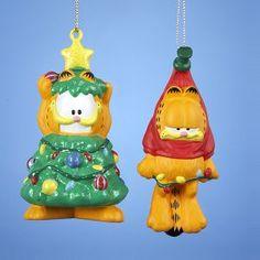 174.99 KSA Club Pack of 24 Garfield Blow Mold Christmas Ornaments 3.5 #DKSA GF1121 Garfield Christmas Ornaments Item