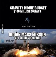 It's funny how a space mission is cheaper than a movie.
