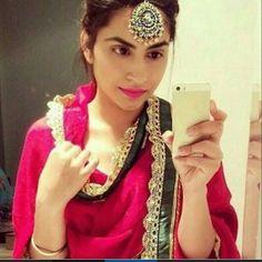 #punjabi #suit #pink #punjaban #selfie