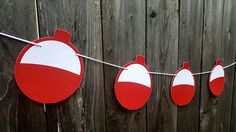 Fishing Bobber Garland Fishing Party Fish Bobber by CraftyCue