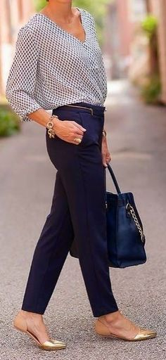 Stylish Business Casual Outfits with Flats 21 Summer Work Outfits, Casual Work Outfits, Mode Outfits, Work Attire, Comfortable Outfits, Work Casual, Chic Outfits, Spring Outfits, Outfit Work
