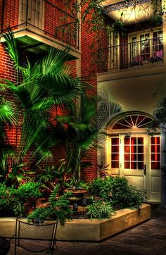 New Orleans Print featuring the photograph French Quarter Courtyard by Greg and Chrystal Mimbs