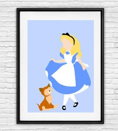 Alice in Wonderland Minimalist Poster by 2HuskiesDesigns on Etsy