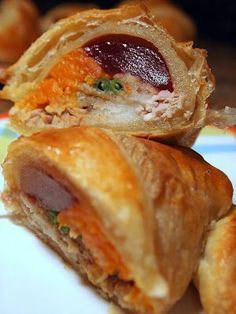 Thanksgiving Stuffed Croissant! Day after Thanksgiving dinner!..Looks Yum and Interesting!