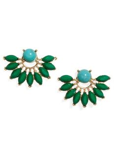 Med Peacock Studs in Green and Turquoise