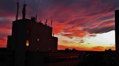 Sonnenuntergang Rathaus Wesseling