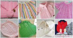 Daha Önce Görmediğiniz 35 Örgü Bebek Yelek Hırka Modeli Sweater Cardigan, Diy And Crafts, Vest, Sweaters, Fashion, Light Colors, Long Scarf, Amor, Made By Hands