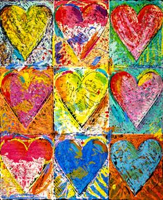 <3 <3 <3 TITLE: The Big Wall of Hearts <3 <3 <3 ARTIST: Jim Dine <3 <3 <3