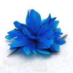 Simple burst of feathers fascinator with large quill feathers and soft down feathers to decorate attached to a sturdy alligator clip. $21