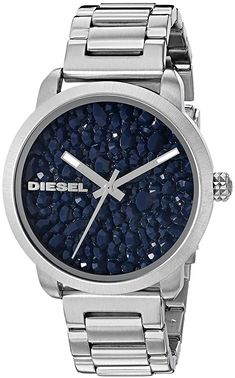 Diesel Ladies Flare Stainless Steel Watch * You can get more details by clicking on the image. Cheap Watches, Women's Watches, Analog Watches, Wrist Watches, Watches Online, Flare, Diesel Watch, Mesh Band, Citizen Watch