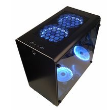 2017 New All Aluminum Chassis ATX Game Case Can Use Water Cooling Toughened Glass Transparent Side - Shop Tablet Pcs Glass Stairs, Water Cooling, Computer Case, Remote Control Toys, Pc Gamer, Aluminium Alloy, Brand Names, Usb, Canning