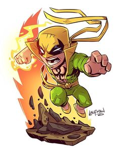 "958 curtidas, 4 comentários - Derek Laufman (@dereklaufman) no Instagram: ""Chibi Ironfist! Get this Print on May 4th and take advantage of my site wide sale at…"""