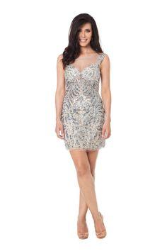 Silver Basix - Vestido curto em tule bordado com transparências. #glam #fashion #cool #ootd #cute #style #trends #aboutalook