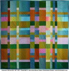 art quilts techniques | Fibonacci Series #10 © 2012 art quilt by Caryl Bryer Fallert, Paducah ...