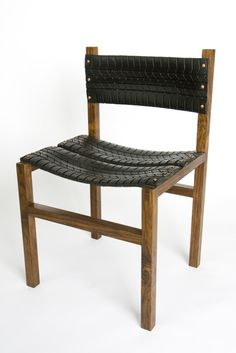 chair made from car tires. With a different frame would make a great outdoor chair.