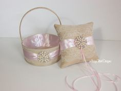 Hey, I found this really awesome Etsy listing at https://www.etsy.com/listing/211241148/flower-girl-basket-and-ring-pillow