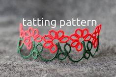 Gerbera edging shuttle tatting pattern in PDF por littleblacklace