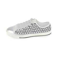 triangles in triangles pattern Canvas Women