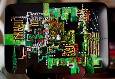 Inspiration from Printed Circuit Board. Created in August 2013.