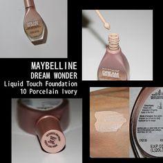 MichelaIsMyName: MAYBELLINE DREAM WONDER Liquid Touch Foundation 10...