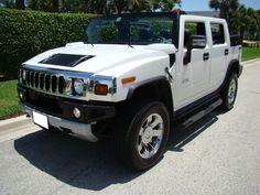Custom 2008 White Hummer H2