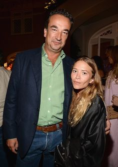 Mary-Kate Olsen and Olivier Sarkozy at a Hamptons event. #style #fashion #olsentwins