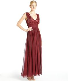 Jill Stuart Dress Short V Neck Red Chiffon silk chiffon v neck gown