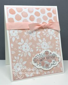 BJ Peters, Independent Stampin' Up! Stampin Up Catalog 2017, Stamping Up Cards, Rubber Stamping, Vintage Birthday Cards, Card Sentiments, Family Birthdays, Happy Birthday Greetings, Pretty Cards, Flower Cards
