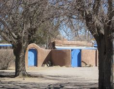 Blue gates in Old Mesilla