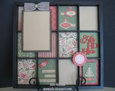 CTMH Display Tray using Pear & Partridge paper for the holidays