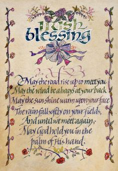 Irish Blessing print available mounted, framed as well as printed on canvas by Dave Wood