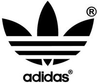 Adidas Logo, 1972 - Later morphed to more minimalistic look #logo #adidas