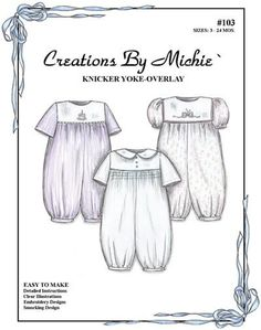 Creations by Michie' Knicker Yoke-Overlay #103