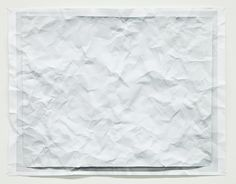 Tom Friedman, 2012. Untitled (wrinkled photo)  A wrinkled photograph of a wrinkled piece of paper.