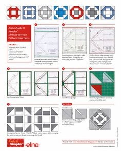 Anita's Make it Simpler® Monkey Wrench method (also known as a Churn Dash ) Free  pattern download of quilt block