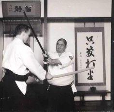 Rev. Kensho Furuya with uke William Gillespie