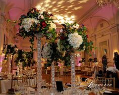 Floral Design, Decor & Centerpieces by MME Event Design & Productions. mmeentertainment.com. Book your wedding with us now: 877.885.0705 | 212.971.5353
