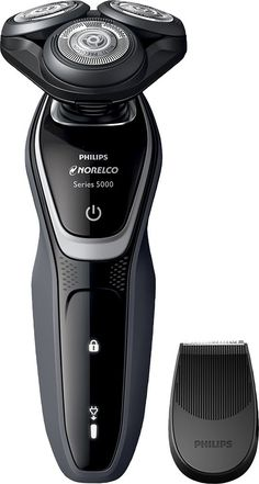 Philips Norelco - 5100 Wet/Dry Electric Shaver - Charcoal Grey/Pike White Best Electric Razor, Best Electric Shaver, Electric Razors, Aqua, Moustaches, Wet Shaving, Beard Trimming, Grooming Kit, Philips