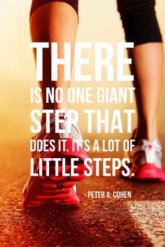 "Fitness Quote ""There is no one giant step that does it. It's a lot of little steps."" #healthandfitness #fitnessmotivation #healthandwellness #healthquote"
