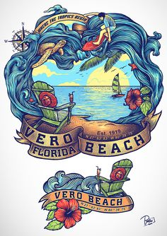 t-shirt for Vero Beach by BATHI* #awesome #color #beach #hibiscus