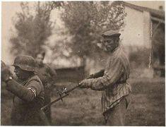 A Liberated Jewish Man Holds a Nazi at GunPoint, WWII.